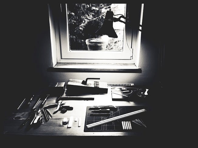 Art Supplies black and white by Krivec Ales from Pixels