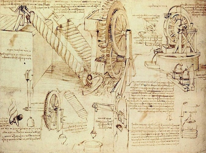 Leonardo da Vinci - Water Lifting Devices