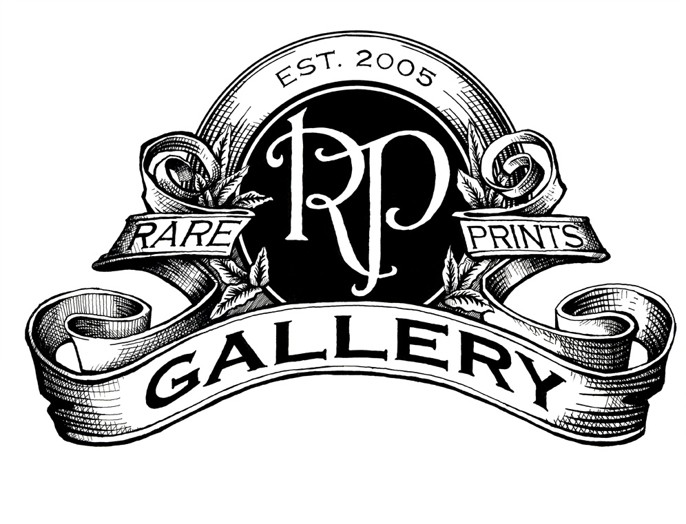Rare Prints Gallery logo, old maps