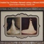 Wizard oval cut, art business, custom mat